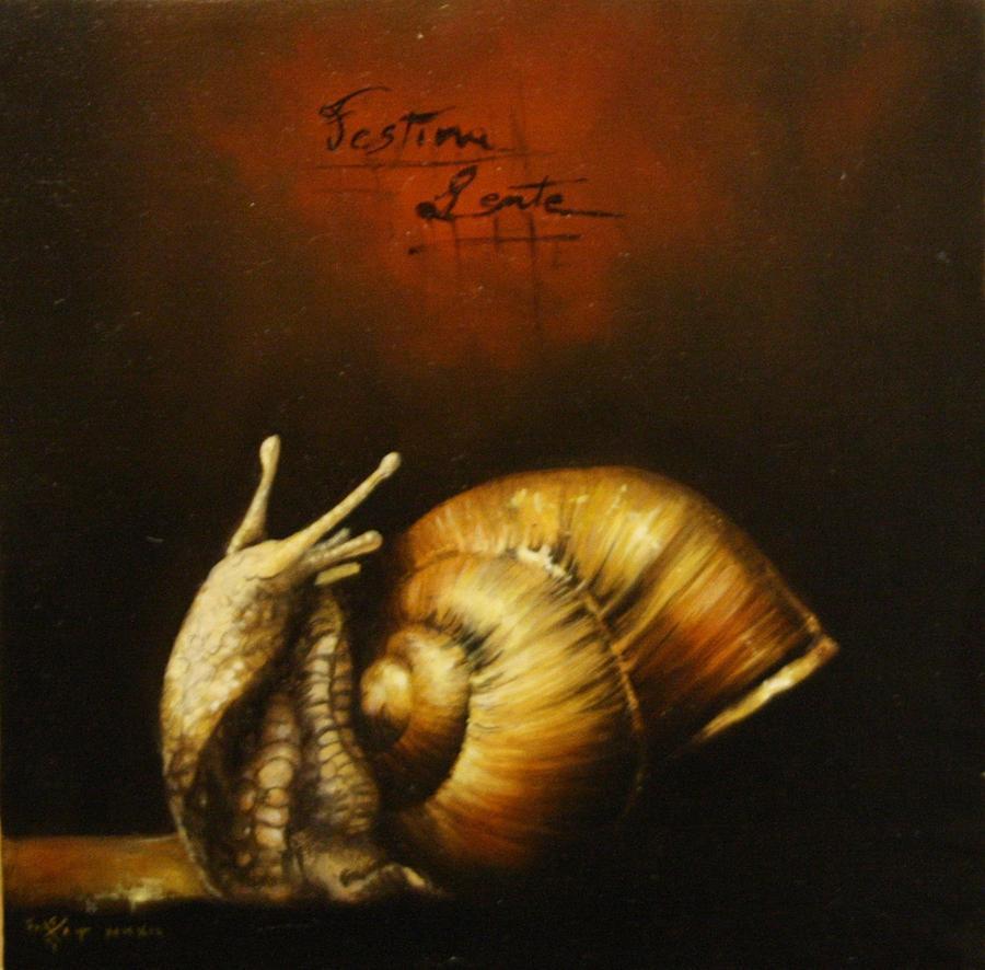 Fantasy Painting - Festina Lente by Simone Galimberti