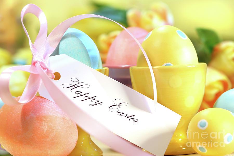 Celebrating Photograph - Festive Easter Eggs by Sandra Cunningham