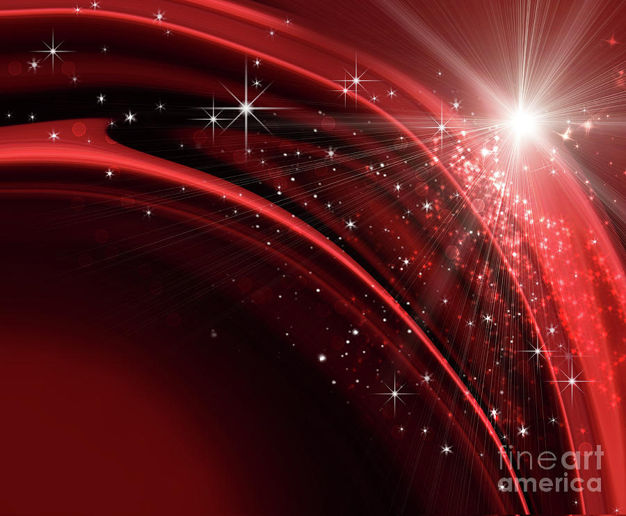 Red Photograph - Festive Holiday Background  by Sandra Cunningham