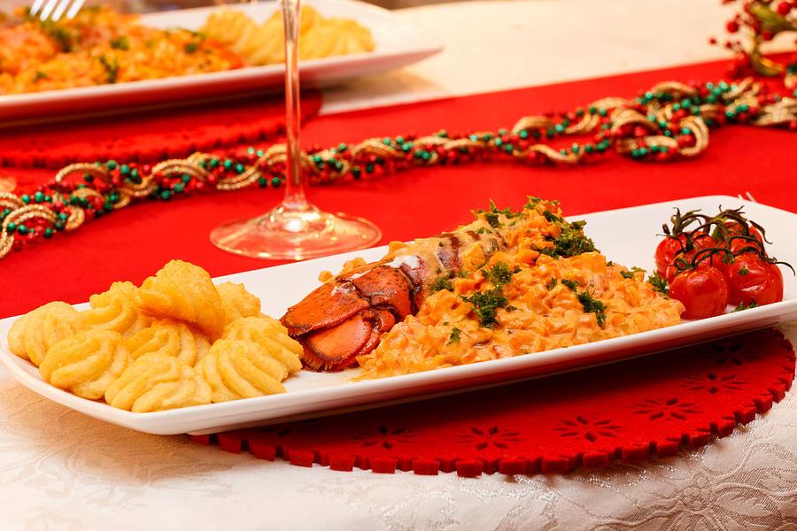 Celebration Photograph - Festive lobster tail by Paul Indigo