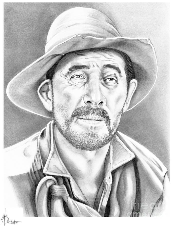 Festus Ken Curtis Drawing By Murphy Elliott