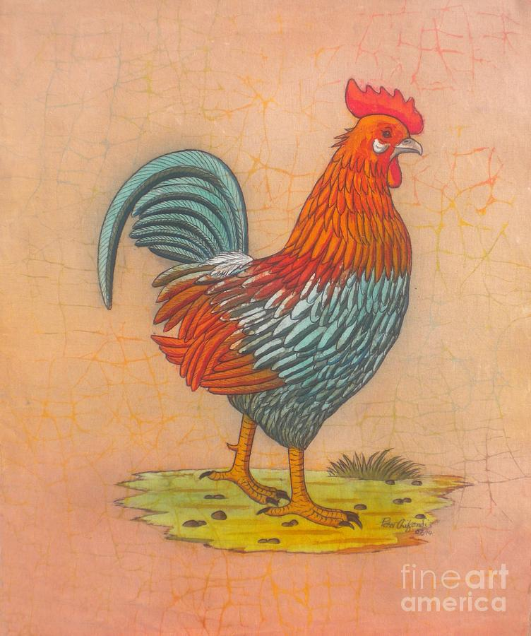 African Painting - Fetching Chicken by Peter Chikondi