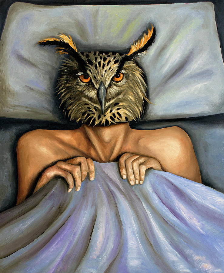 Owl Painting - Fetish Nightmare 2 by Leah Saulnier The Painting Maniac