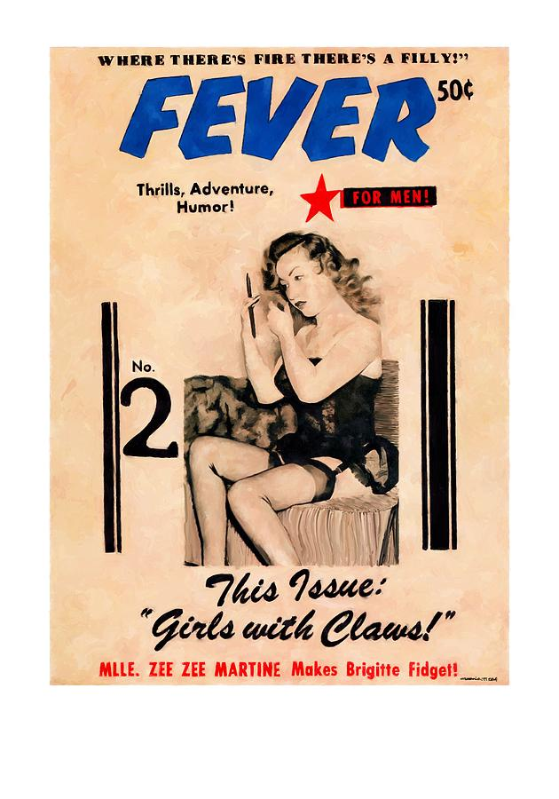 Fever Digital Art - Fever - Vintage Magazines Covers Series by Gabriel T Toro