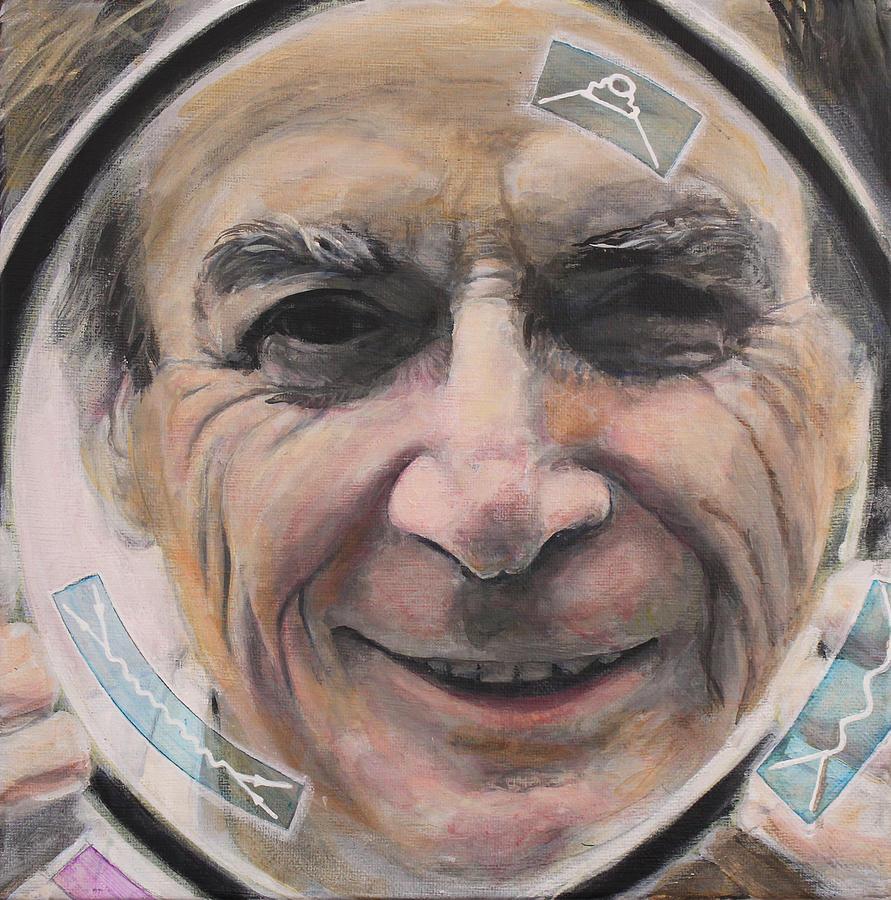 Richard Feynman Painting - Feynman In Focus by Simon Kregar