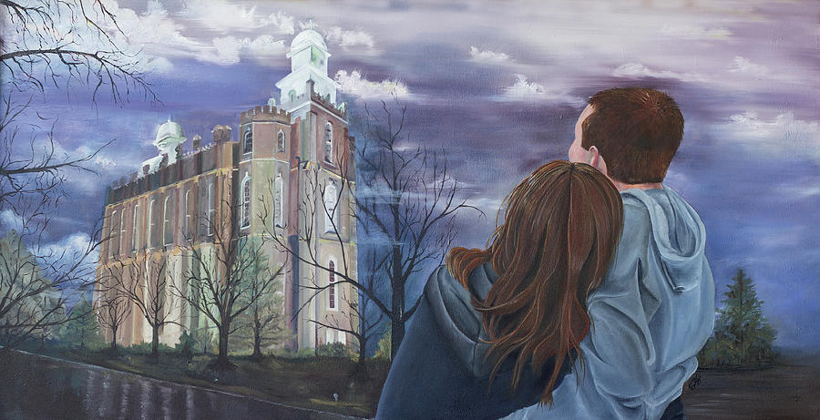Lds Chapel Painting - Fiance by Jane Autry