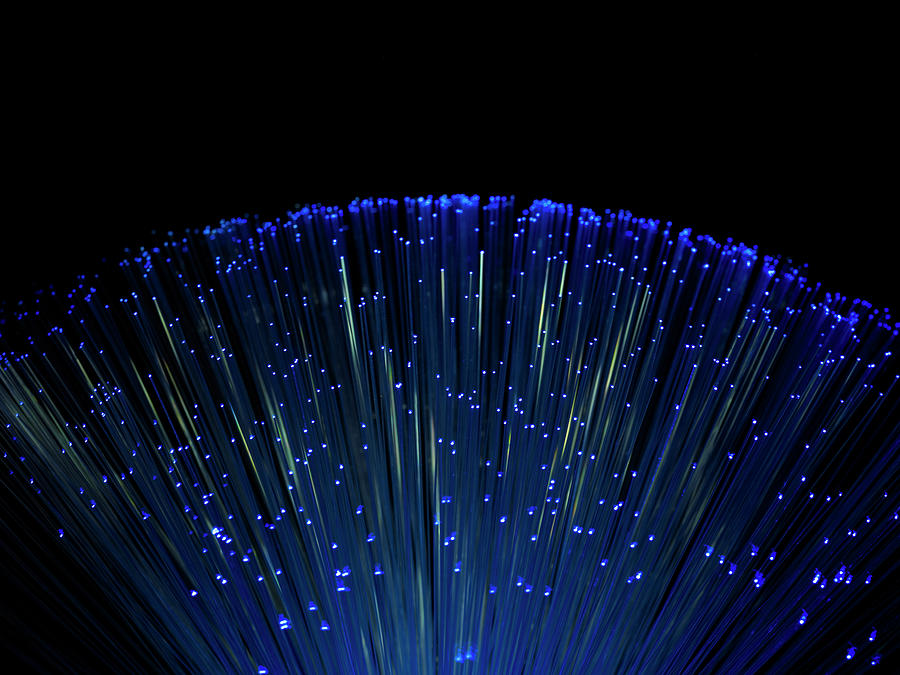 Fiber Optics On Black Background Photograph by Level1studio
