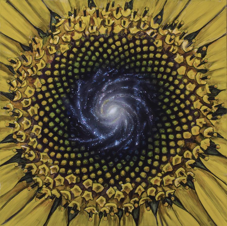 Fibonaccis Mandela V.2 Painting by Simon Kregar