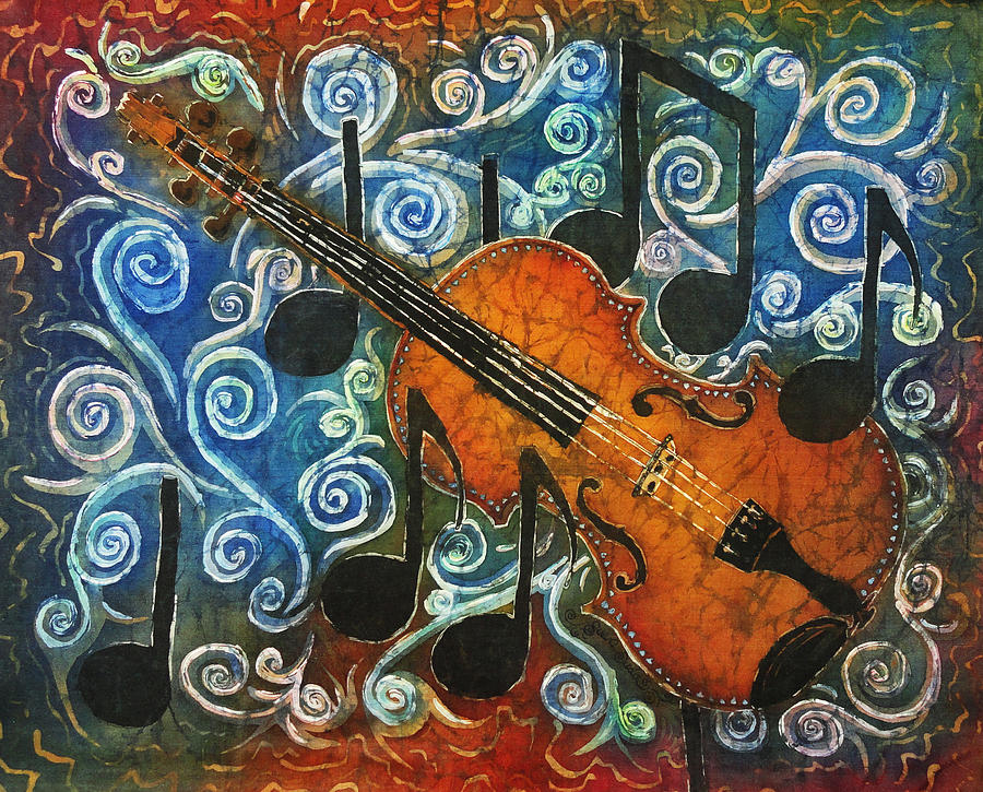 Fiddle Painting - Fiddle 1 by Sue Duda