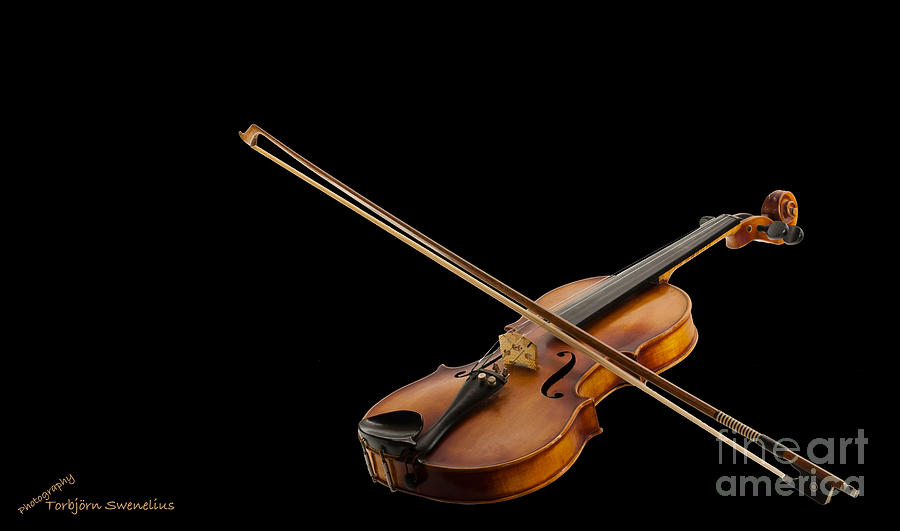 Fiddle And Bow Photograph - Fiddle And Bow by Torbjorn Swenelius