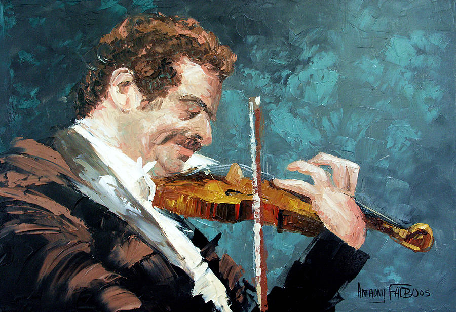 Fiddle Painting - Fiddling Around by Anthony Falbo