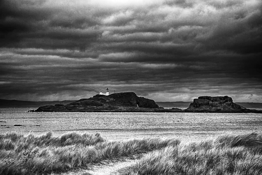 Fidra Photograph - Fidra Island Lighthouse by Michelle Bailey