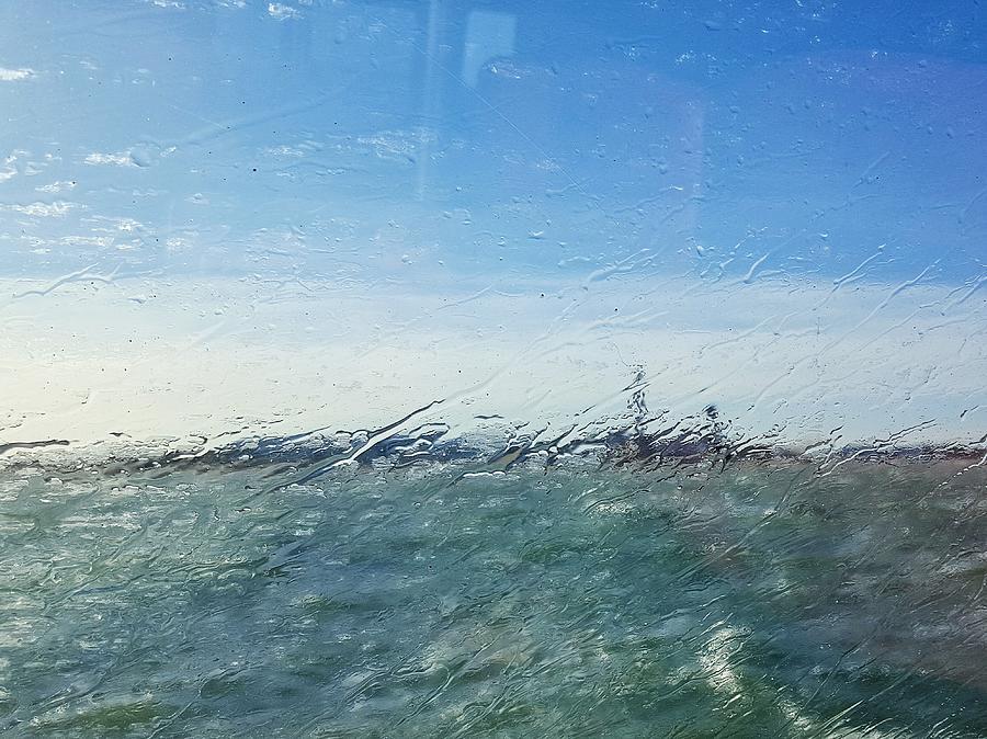 Field And Sky Seen Through Wet Glass Window Photograph by Massimiliano Ranauro / EyeEm