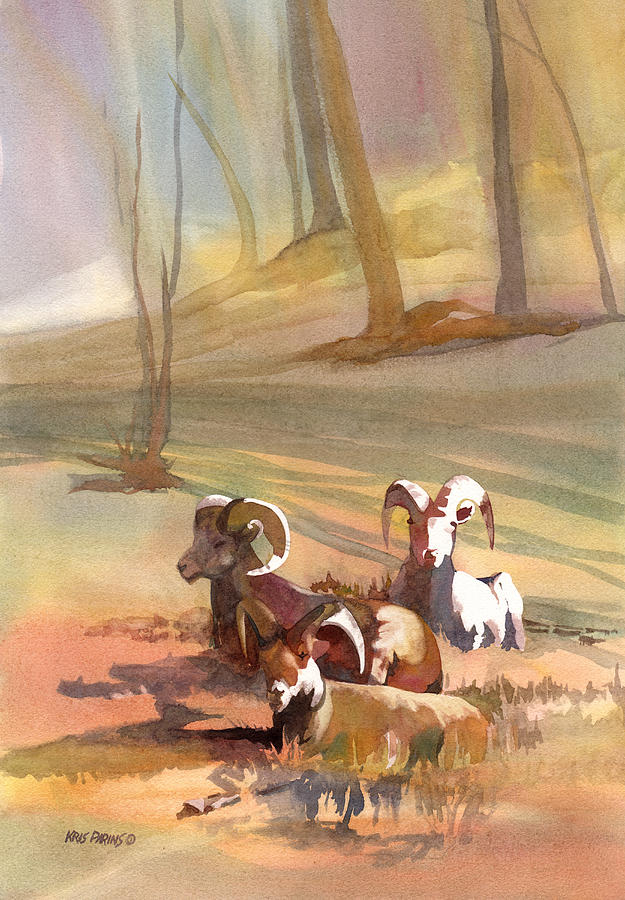 Watercolor Painting - Field Day by Kris Parins
