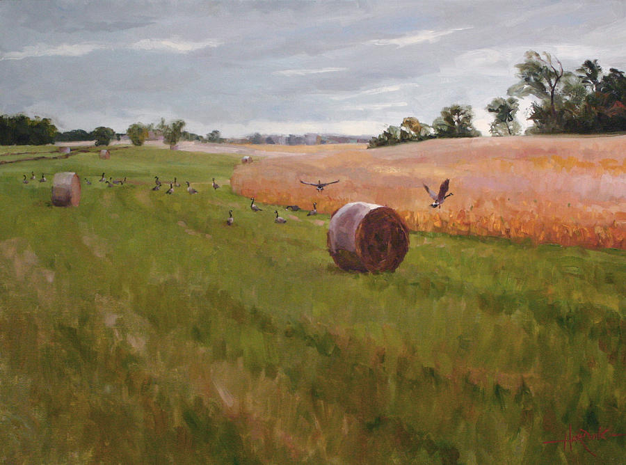 Landscape Painting - Field Day by Scott Harding
