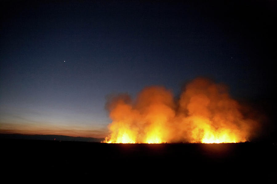 Africa Photograph - Field Fire. Nchalo, Shire Walley by Kennet Havgaard