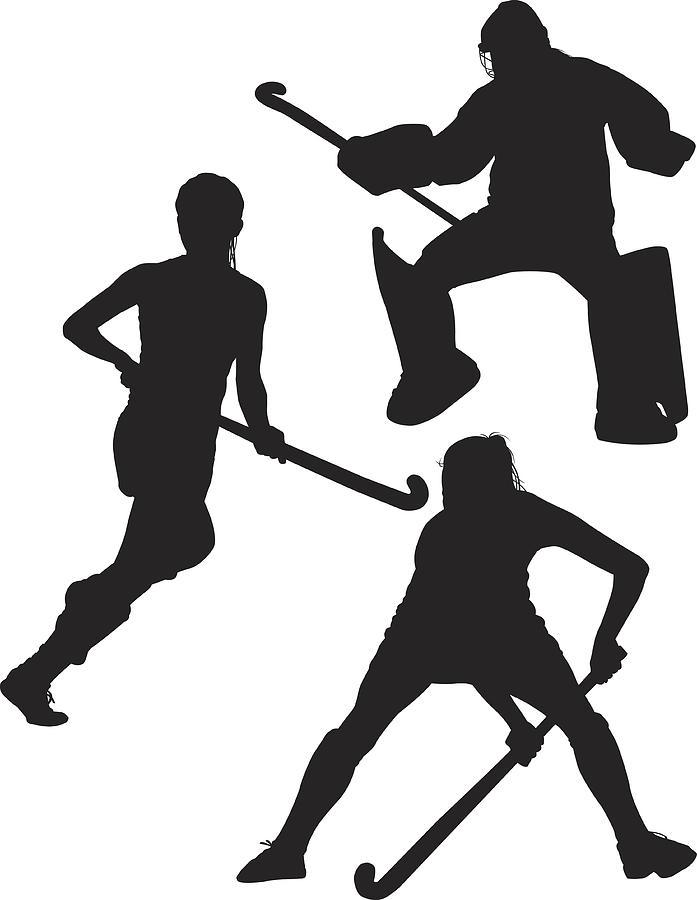 Field Hockey Silhouettes By Sdart