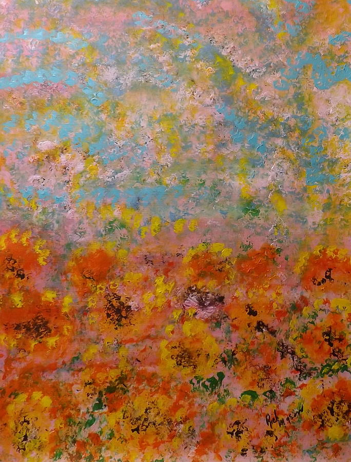 Greeting Card Painting - Field Of Color by Rich Mason