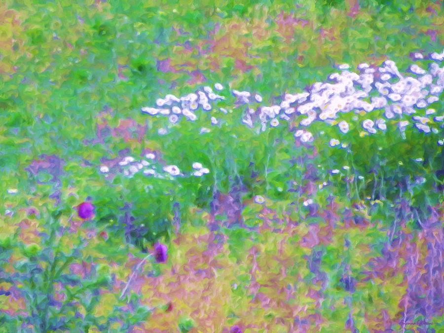 Field Of Flowers Painting - Field Of Flowers In Nature by Susanna Katherine