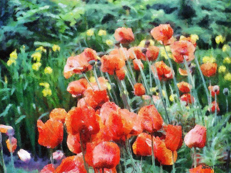 Canadian Painting - Field Of Flowers by Jeffrey Kolker