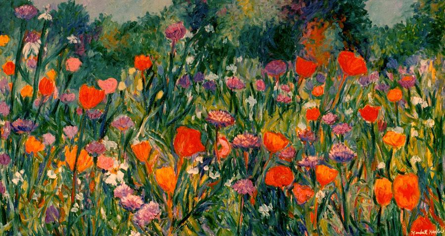 Flowers Painting - Field Of Flowers by Kendall Kessler