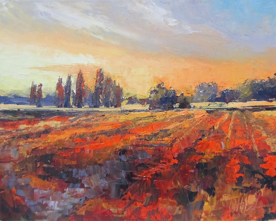 Field of light oil painting painting by chris hobel for Australian mural artists
