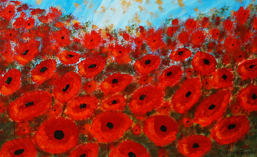 Field Of Poppies by Catherine Harms