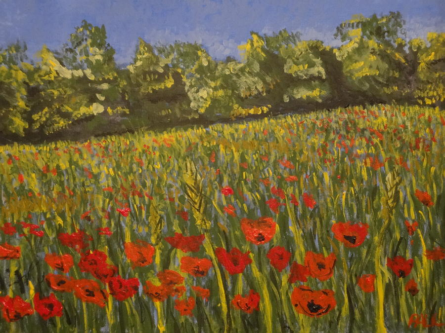 Impressionism Painting - Field Of Poppies by Paul Benson