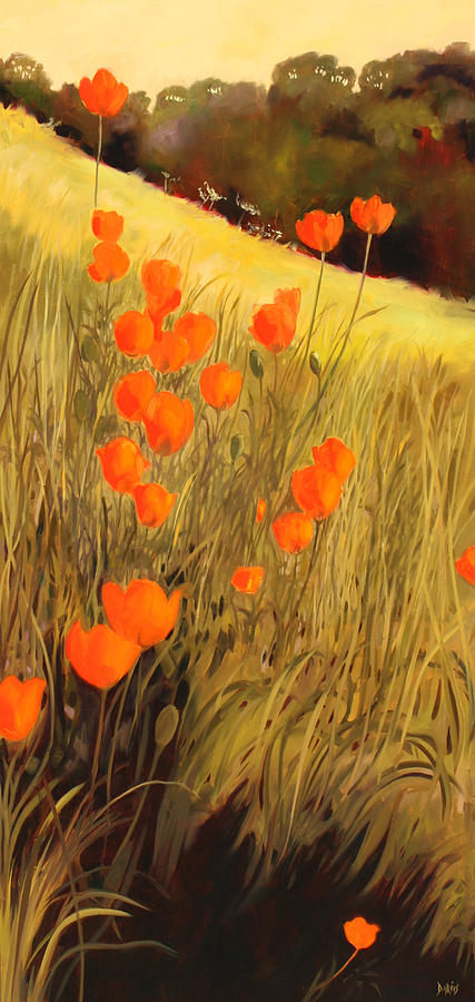 Field Painting - Field Of Poppies by Sue  Darius