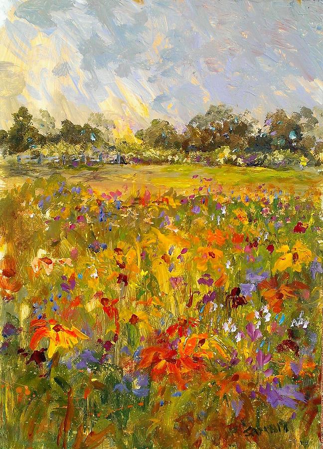Field of Sunshine by Laurie Samara-Schlageter