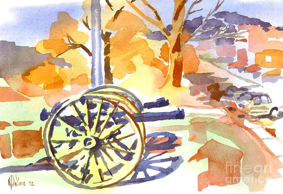 Cannon Painting - Field Rifles In Watercolor by Kip DeVore