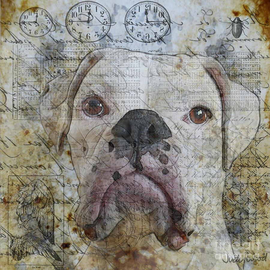 Dog Digital Art - Field Study--whites by Judy Wood
