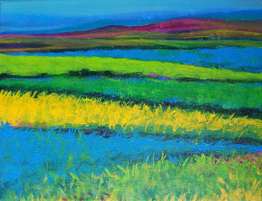 Fields Of Joy Painting by Vanja Zogovic