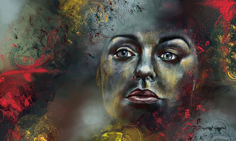 Abstract Painting - Fier Regard by Francoise Dugourd-Caput