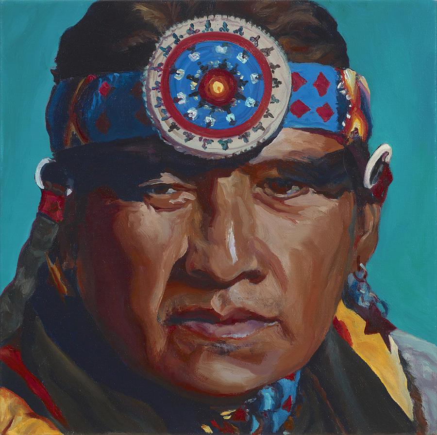 Native American Painting - Fierce Eagle by Christine Lytwynczuk