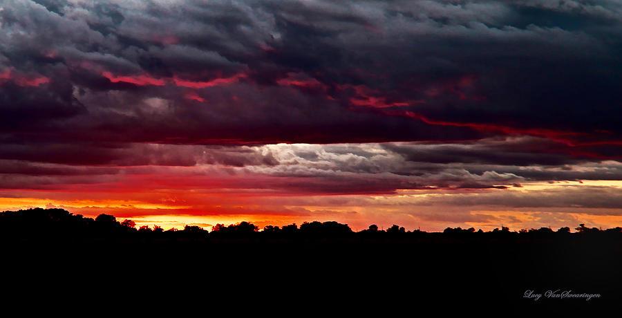 Texas Photograph - Fiery Glow by Lucy VanSwearingen