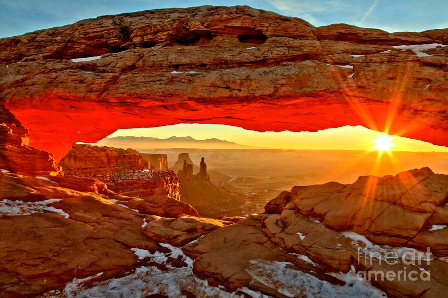Canyonlands National Park Photograph - Fiery Morning by Adam Jewell