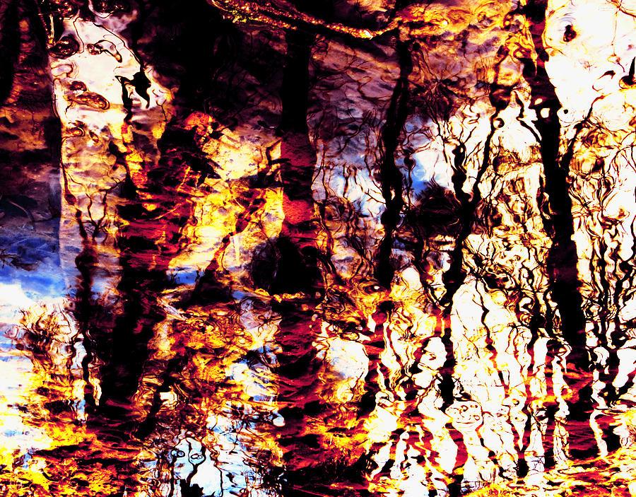Fiery Photograph - Fiery Reflections by Shawna Rowe