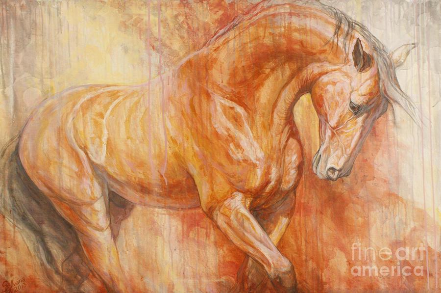 Horse Painting - Fiery Spirit by Silvana Gabudean Dobre