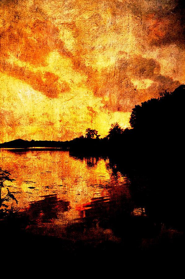Sunset Photograph - Fiery Sunset by Randi Kuhne