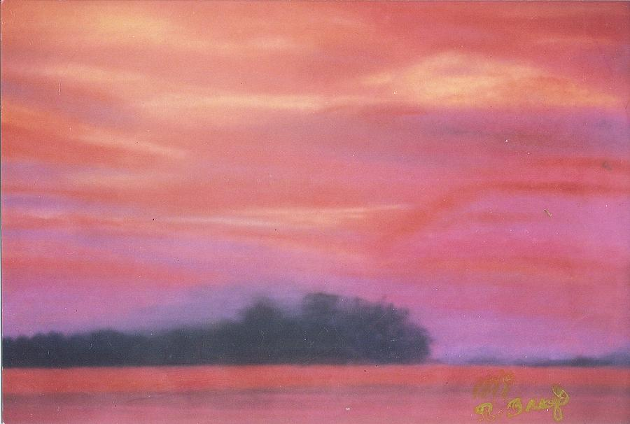 Fiery Sunset Painting by Robert Bray
