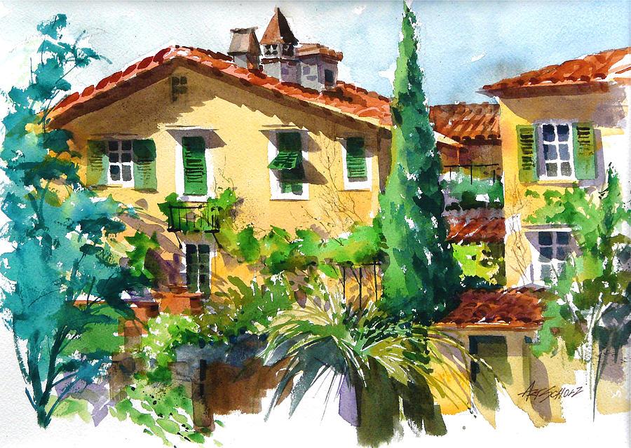 Italian Villa Painting - Fiesole Villa by Art Scholz