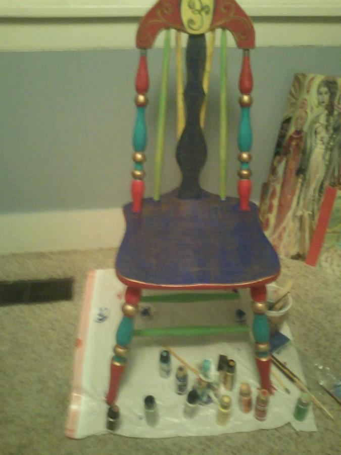 Antique Painting - Fiesta Chair by Crystalin Ian