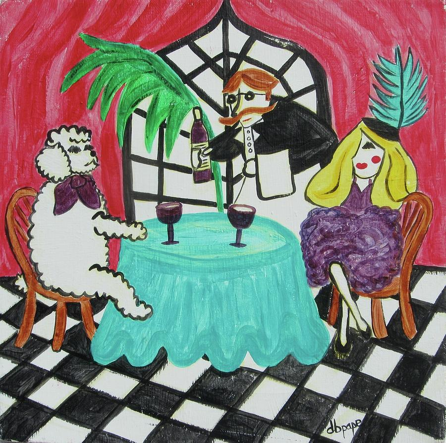 Poodle Painting - Fifis Night Out by Diane Pape