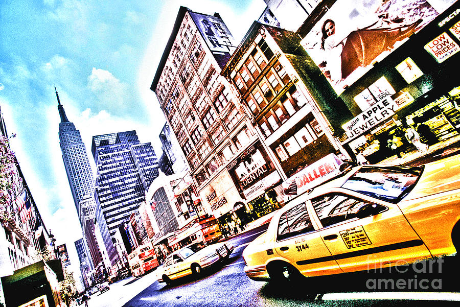 Manhattan Photograph - Fifth Avenue And Empire State Hdr by Kim Lessel