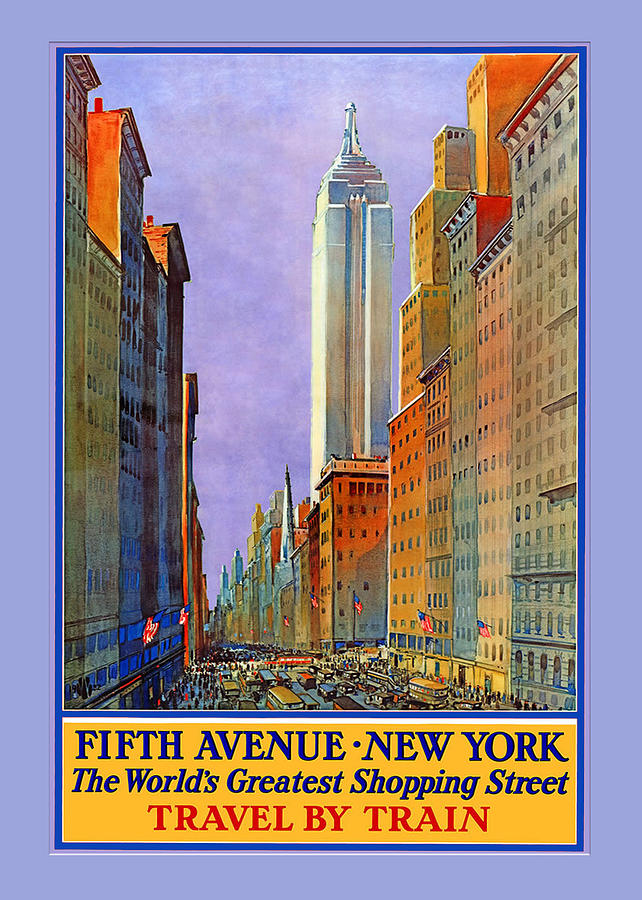 Fifth Avenue Digital Art - Fifth Avenue  New York Travel Poster by Denise Beverly