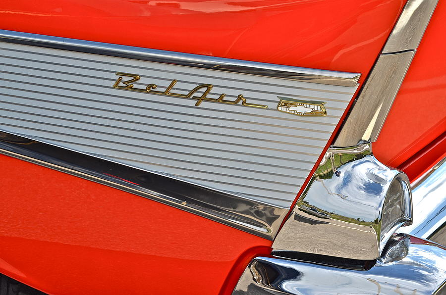 Buick Photograph - Fifty Seven Chevy Bel Air by Frozen in Time Fine Art Photography