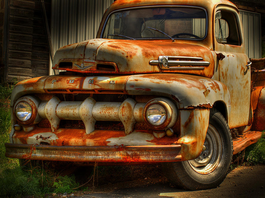 Ford Truck Photograph - Fifty Two Ford by Thomas Young