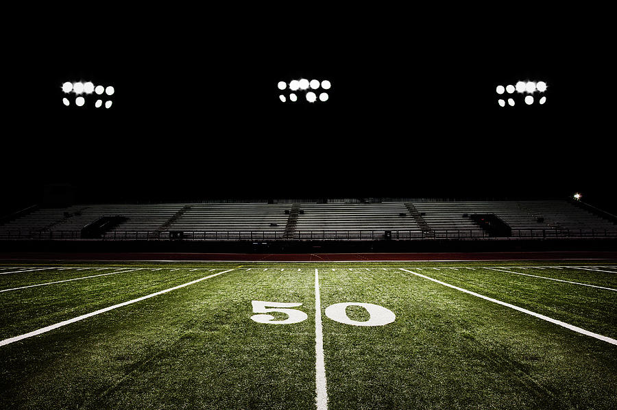 Fifty-yard Line Of Football Field At Photograph by Jgareri