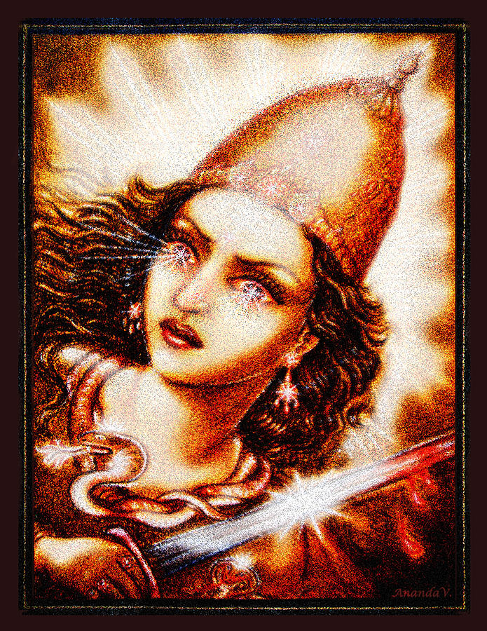 Goddess Mixed Media - Fighting Goddess 2 by Ananda Vdovic